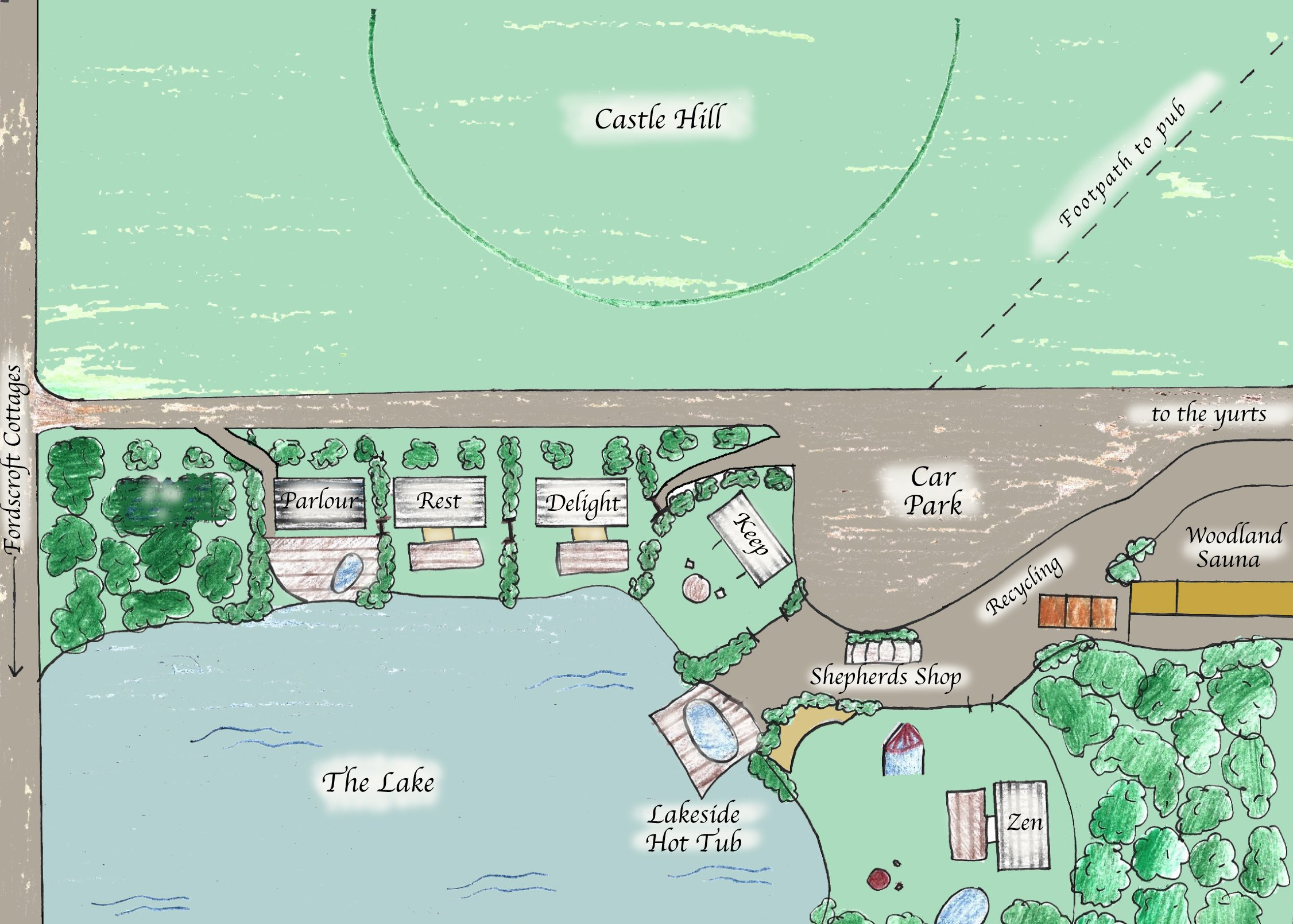The Shepherds Hut Retreat Map